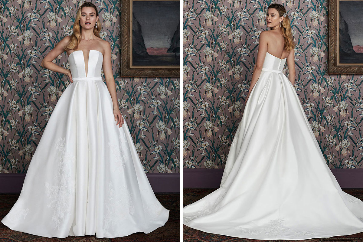 The Bridal Courtyard Justin Alexander Signature Hampton wedding dress