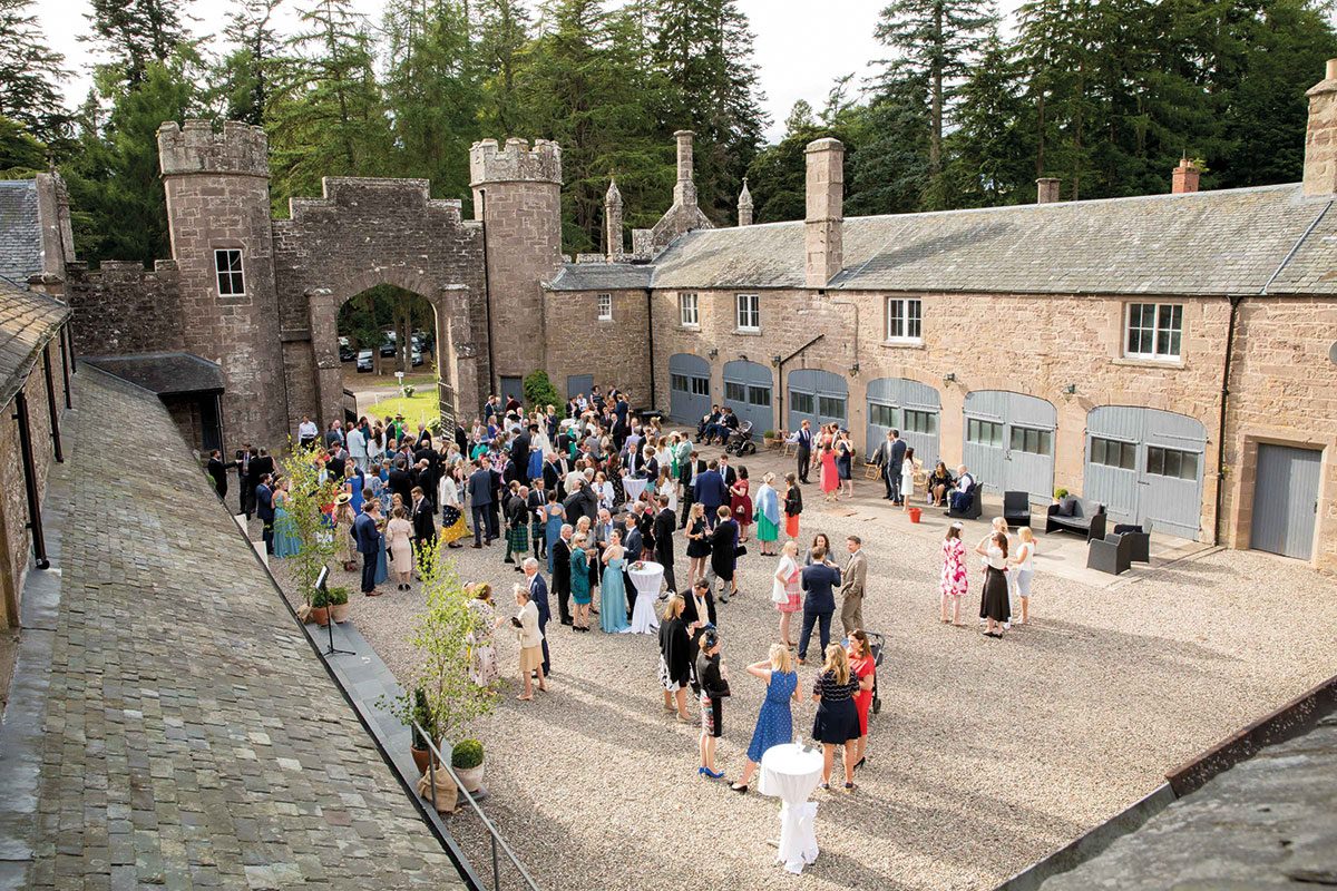 The courtyard at Abercairny in Perthshire