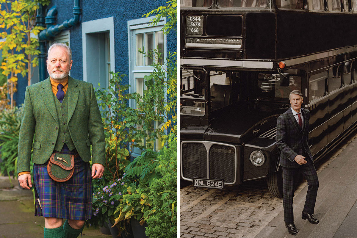 Handmade kilt outfit from Gordon Nicolson Kiltmakers and a bespoke suit by Walker Slater