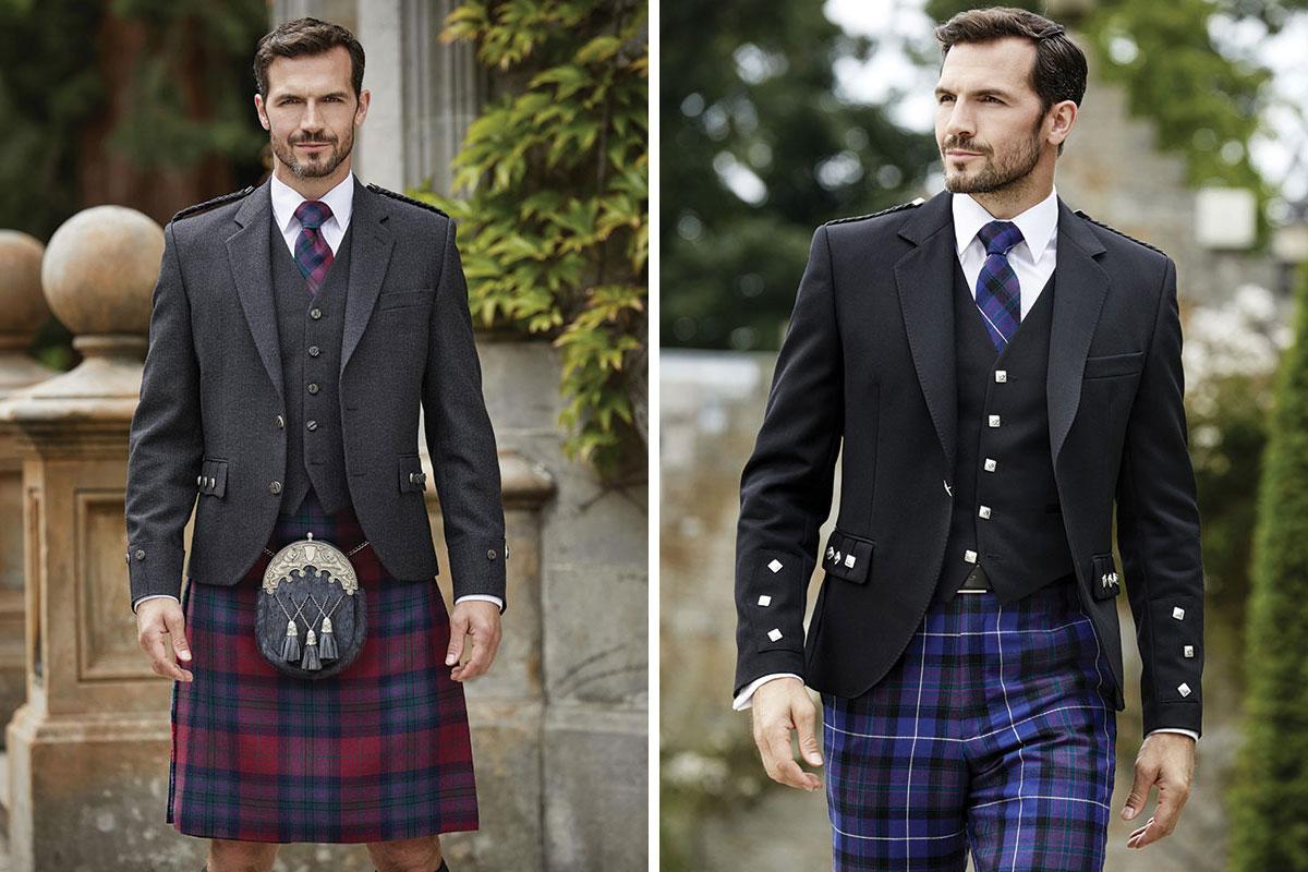 Autumn Pride of Scotland kilt and Modern Pride of Scotland trews byMcCalls
