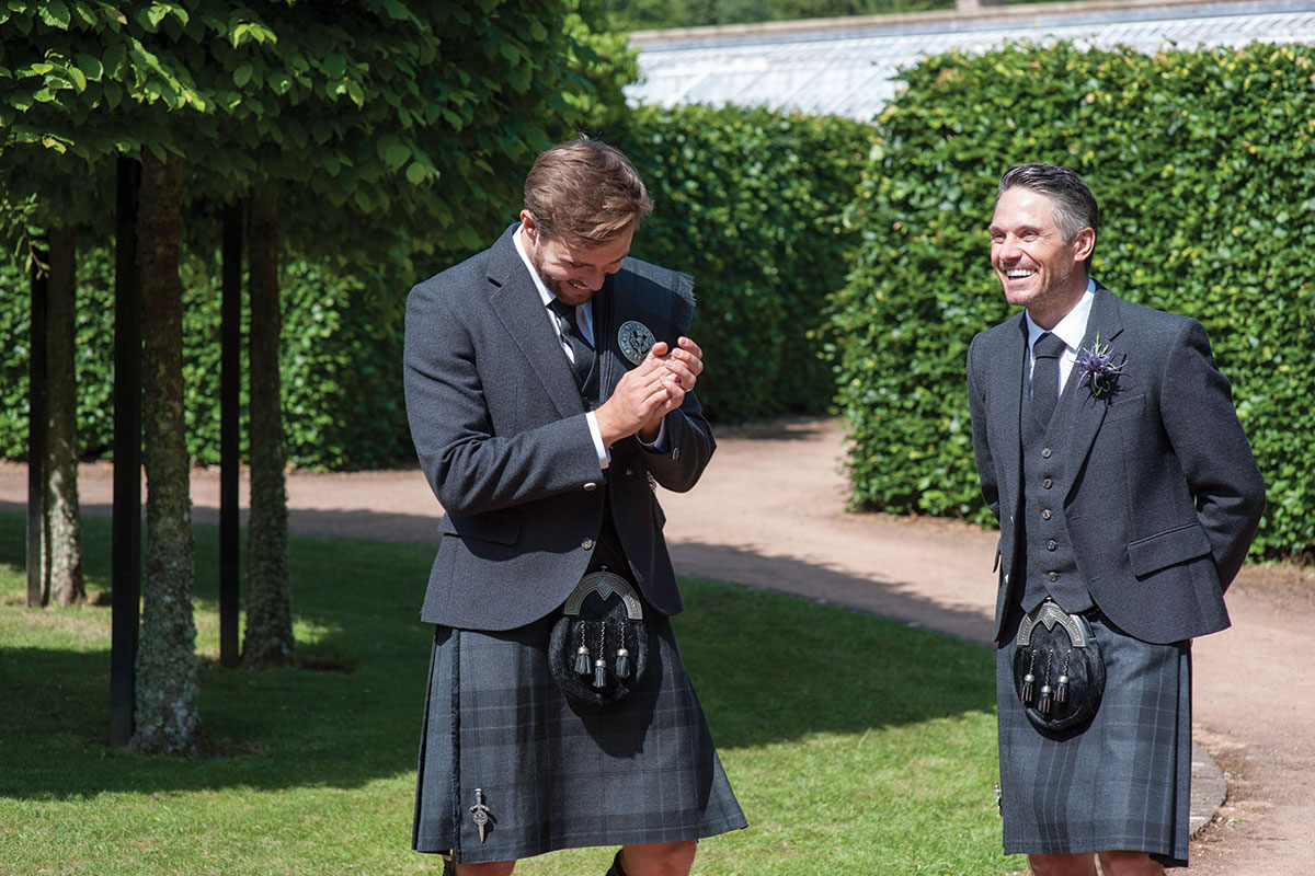 Silver Mist kilt outfits by MacGregor and MacDuff