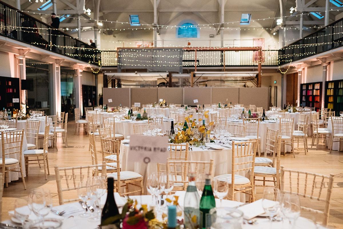 Wedding reception in Dovecot Studios