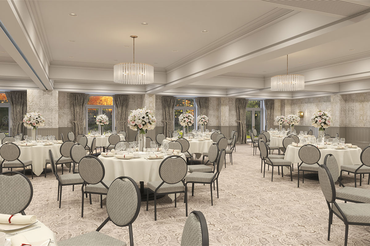 Inside a new wedding suite at Cameron house