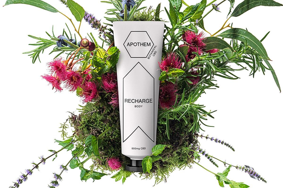 Recharge botanical CBD body cream by Apothem