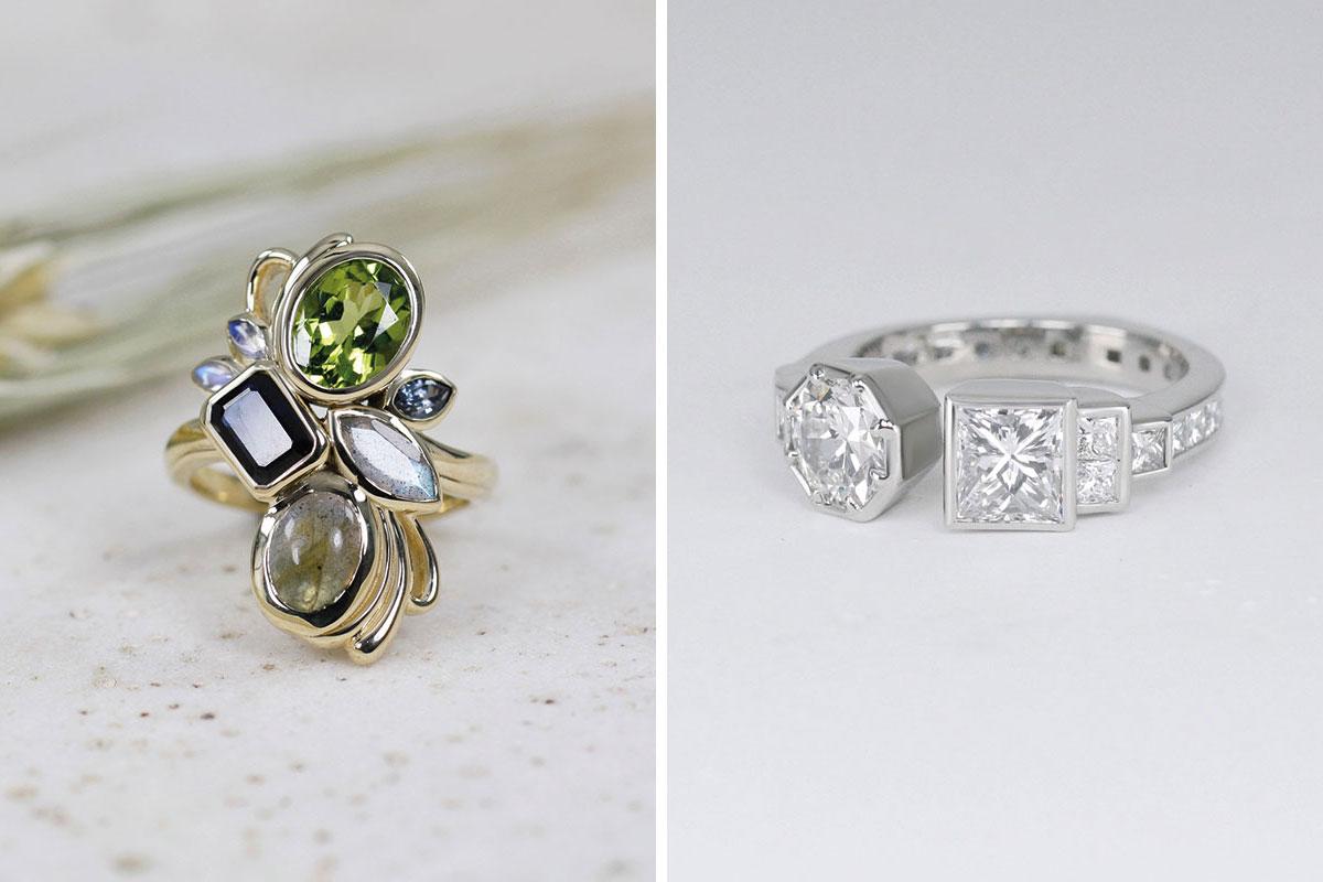 Bespoke engagement rings designed by Brazen Studios