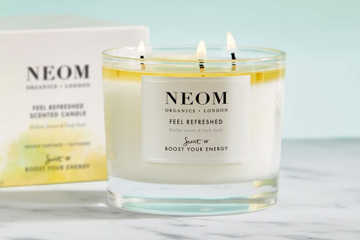 Refreshed three wick scented candle by NEOM