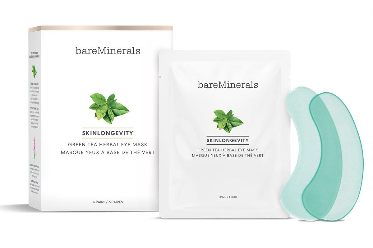 Skinlongevity Green Tea herbal eye mask by bareMinerals