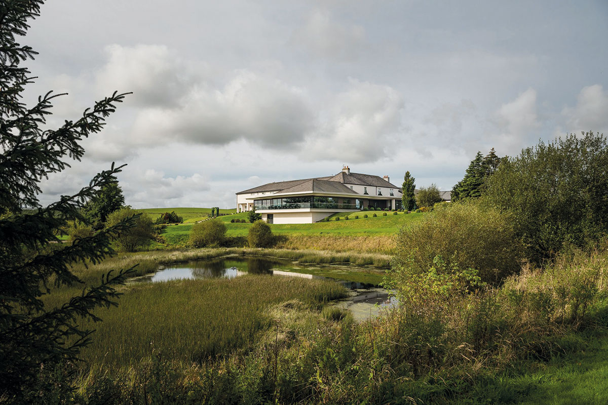 A view of Ayrshire's Lochside Hotel, Lodges and Spa and its grounds