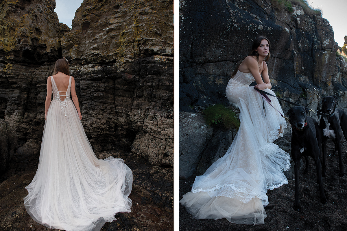 Islay and Skye gowns from Opus Studio at Opus Atelier