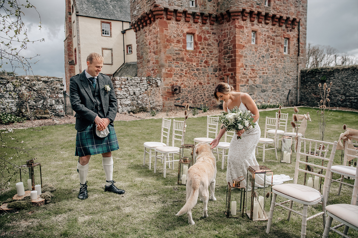 Outdoor ceremony set-up at Wedderlie House