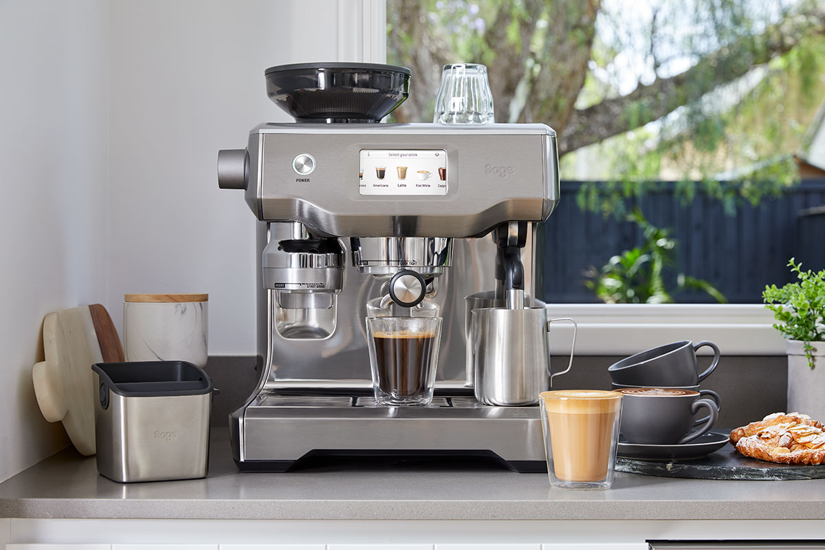 A coffee maker in a kitchen