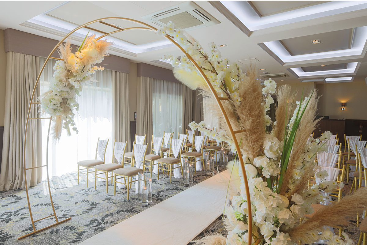 A wedding room in The Lynnhurst Hotel
