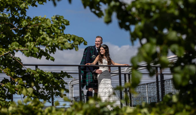 bride and groom at Ingliston Country Club