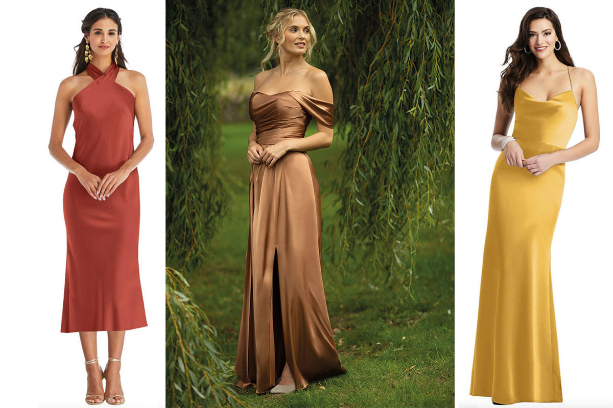 Bridesmaid dresses from Dessy and True Bridesmaids