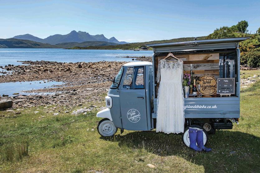 wild highland drinks co cart
