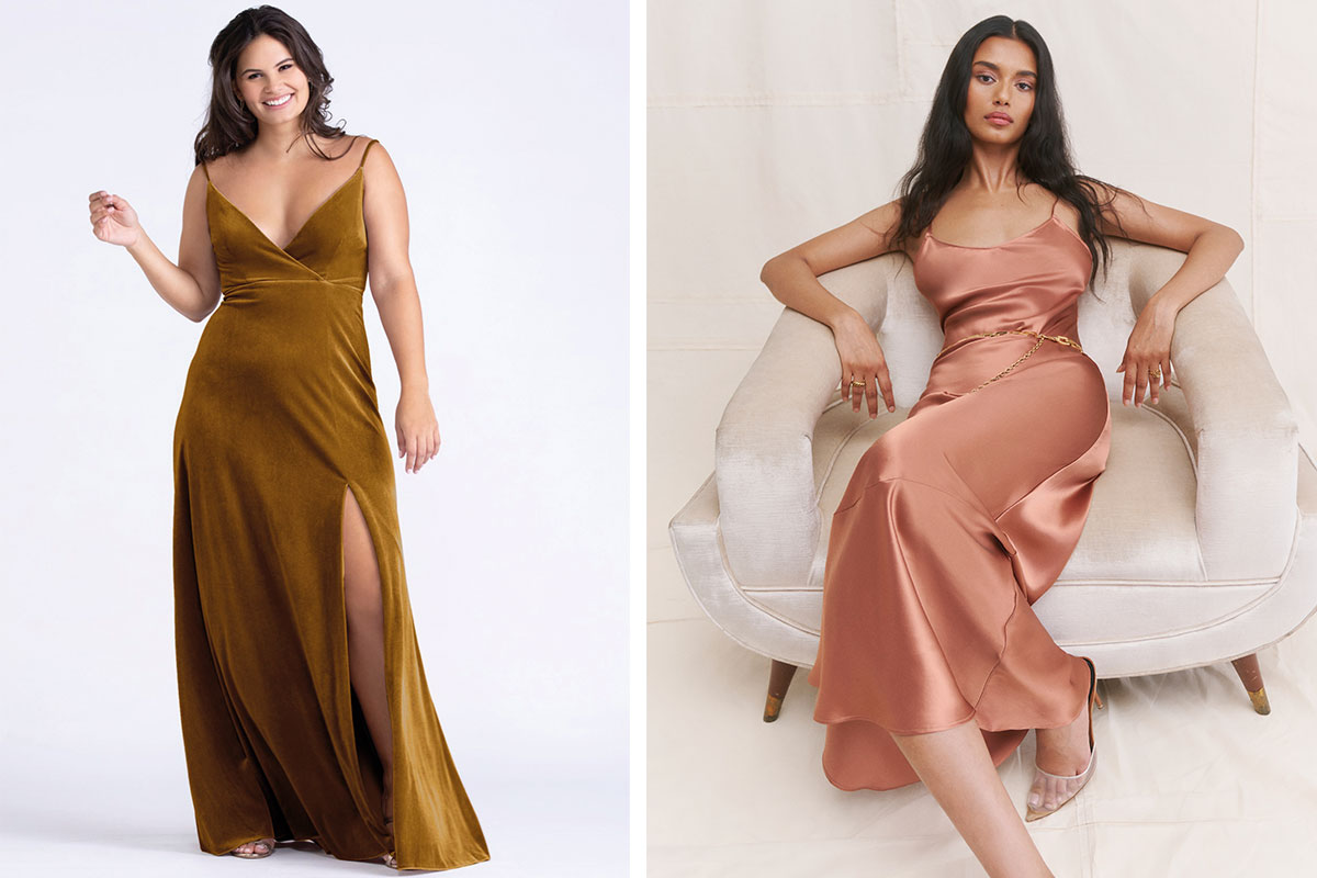 Bridesmaid dresses by Watters and Reformation