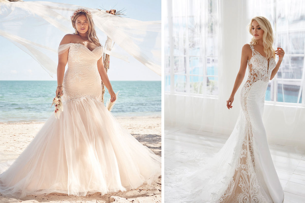 Lace gowns from Amy King Bridal and Beauty and Bridal Boutique of Falkirk