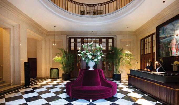 The lobby at Cheval the Edinburgh Grand