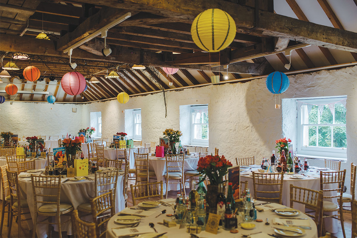 The Stables at Cromarty Arts Centre set for a wedding