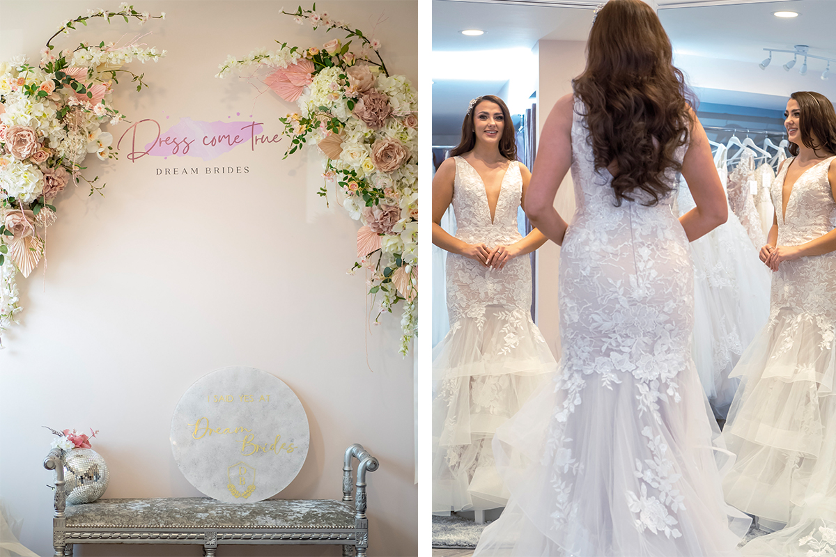 Details in the new Dream Brides store