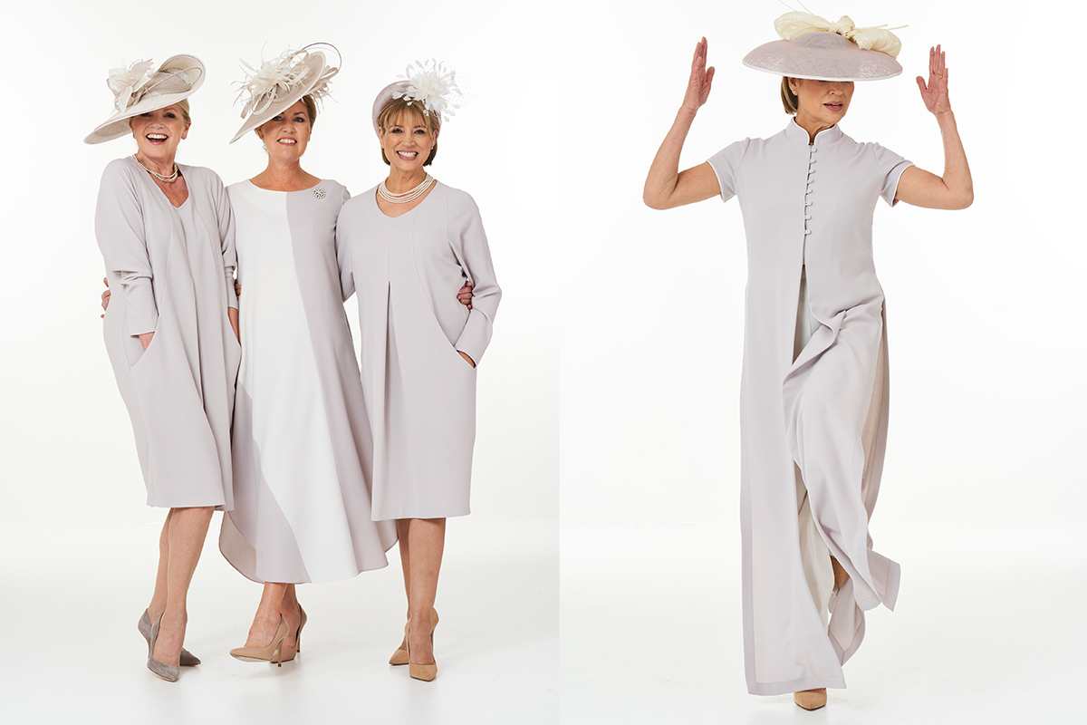 Pale mauve outfits by Joyce Young