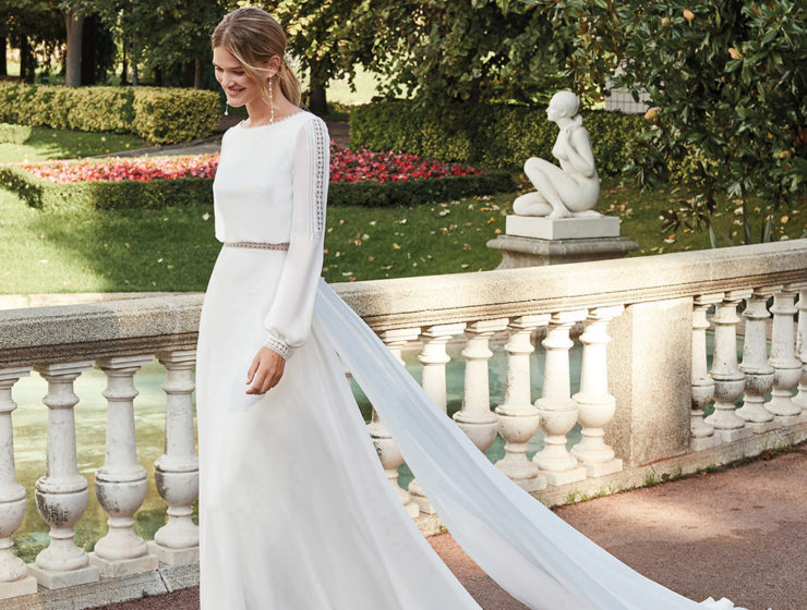 Namir gown by Aire Barcelona available from Kudos Bridal Boutiques Dunfermline
