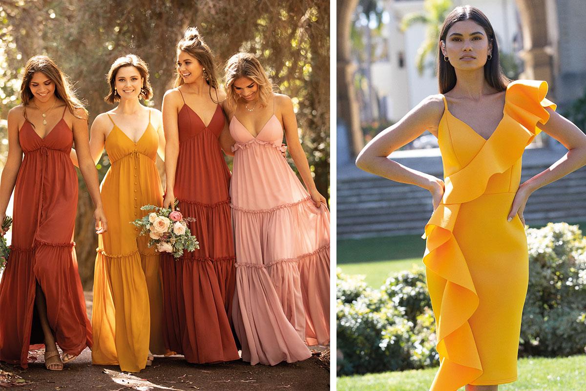 Bridesmaid dresses by Sorella Vita and Lipsy