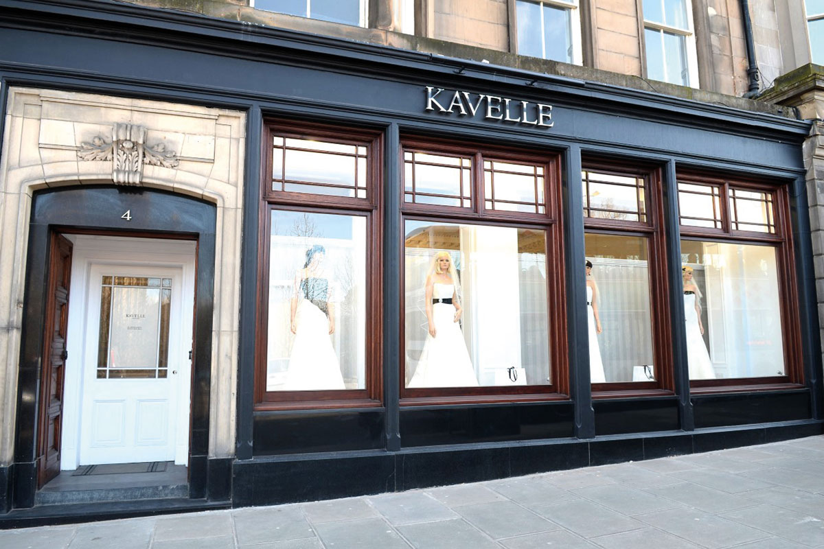 exterior of Kavelle Couture in Edinburgh