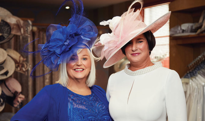 two ladies wearing occasionwear outfits at Catwalk in Falkrik