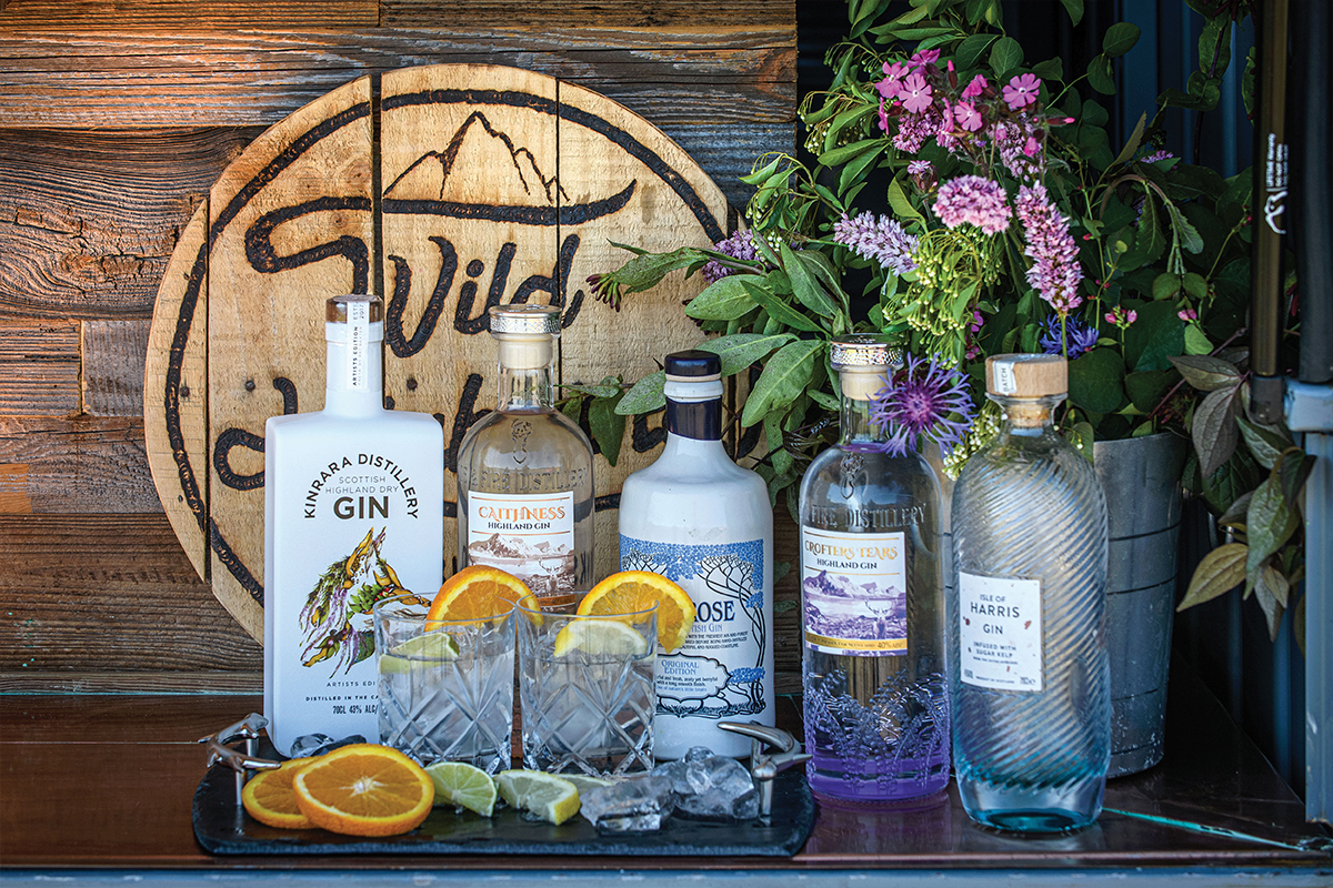 A selection of Wild Highland Drinks Co tipples