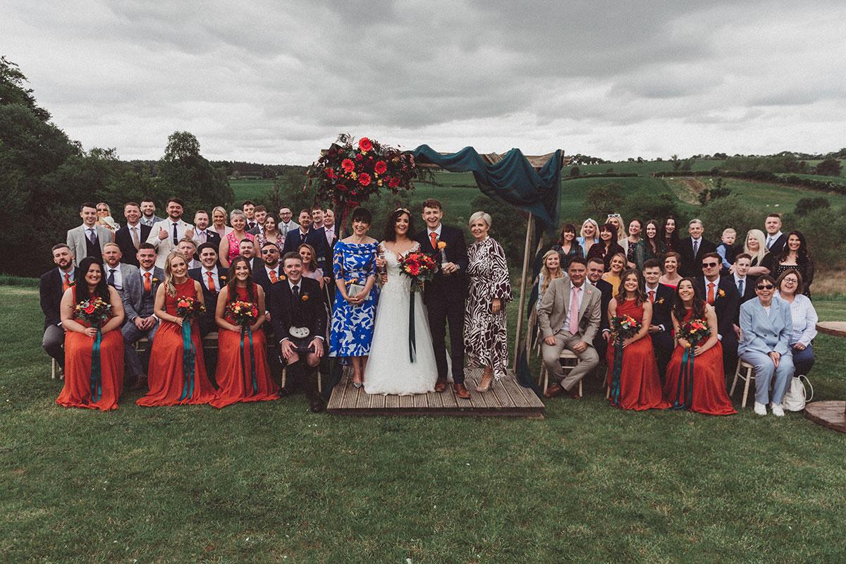 wedding group photo at Eden Leisure Village