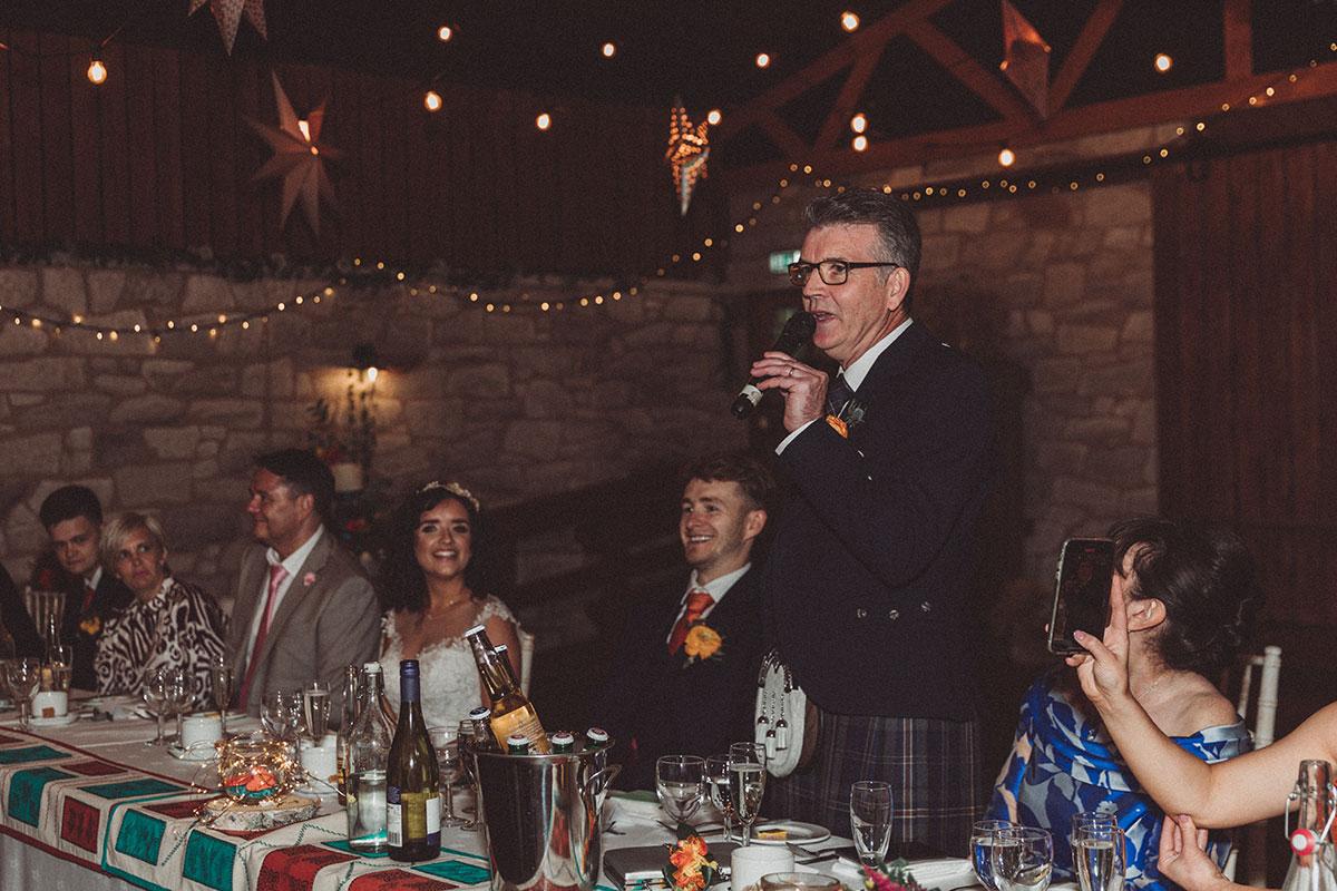 wedding speech at Eden Leisure Village
