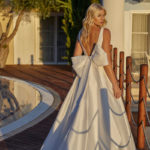 Model wearing a wedding dress by Modeca from Magnolia Lane Bridal