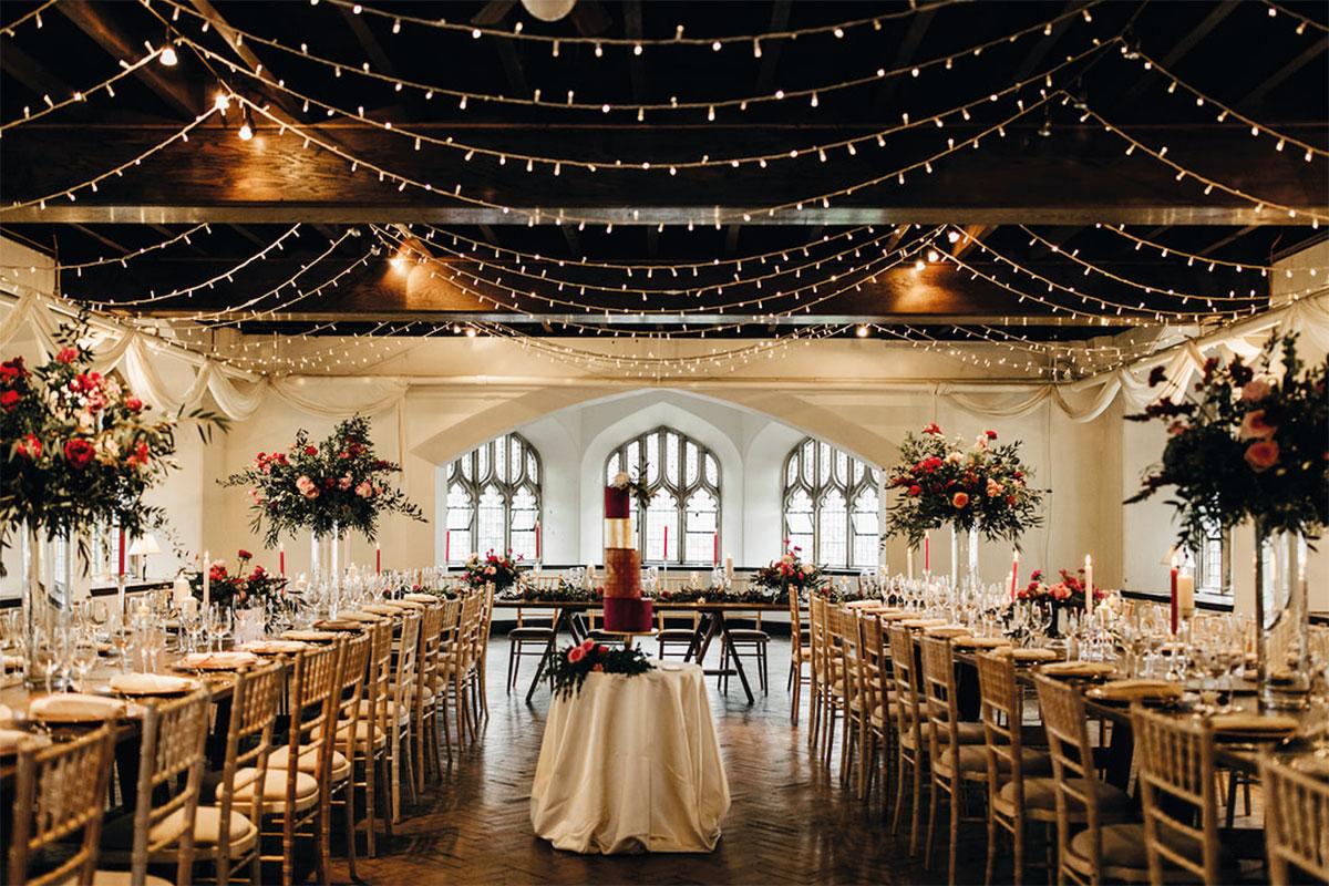 Cluny Castle set for a wedding dinner