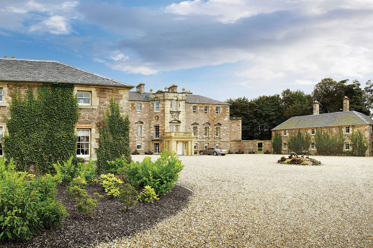 The exterior of the main house at Archerfield