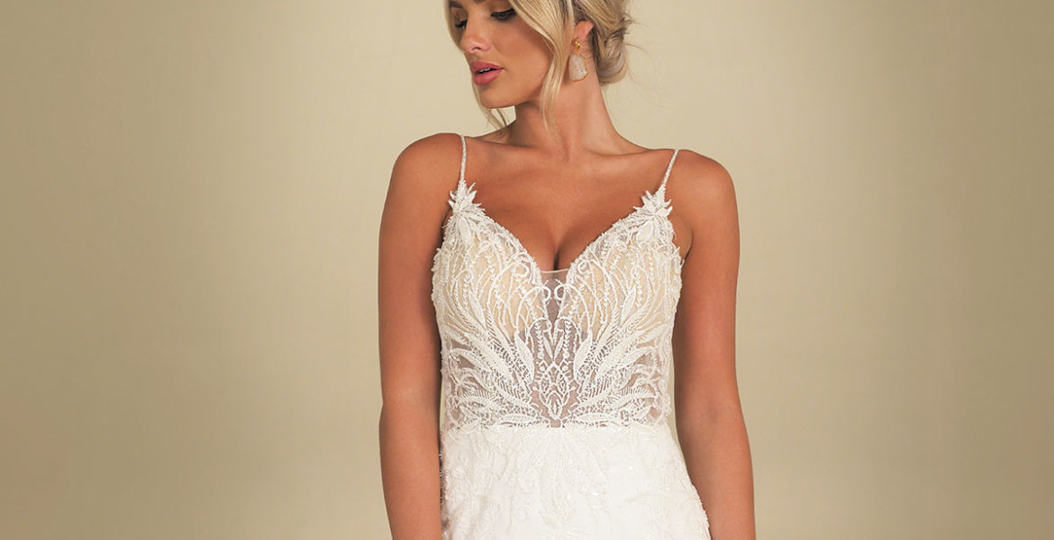 Monaco crepe wedding gown by GAIA Bridal from Kathleen Richmond Couture